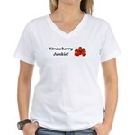 Strawberry Junkie Women's V-Neck T-Shirt