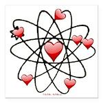 Atomic Valentine Square Car Magnet 3