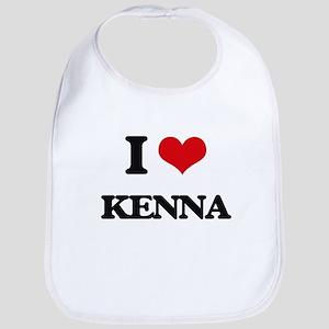 I Love Kenna Bib