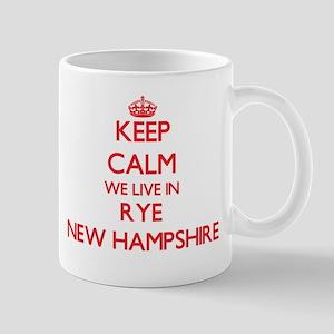 Keep calm we live in Rye New Hampshire Mugs