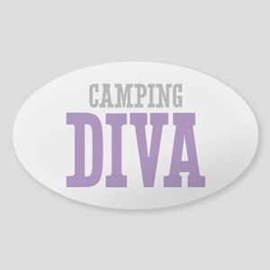 Camping DIVA Sticker (Oval)