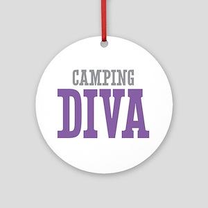 Camping DIVA Ornament (Round)