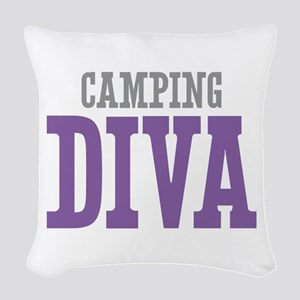Camping DIVA Woven Throw Pillow