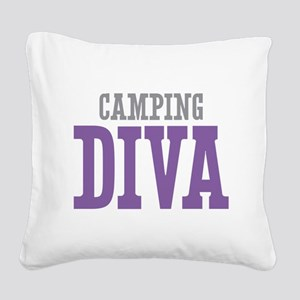 Camping DIVA Square Canvas Pillow
