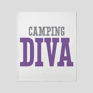 Camping DIVA Throw Blanket