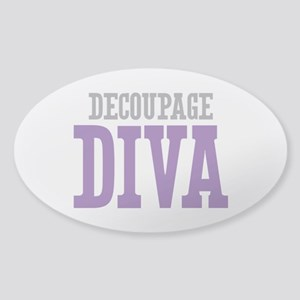 Decoupage DIVA Sticker (Oval)