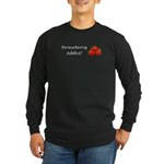 Strawberry Addict Long Sleeve Dark T-Shirt