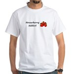Strawberry Addict White T-Shirt