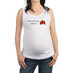 Strawberry Addict Maternity Tank Top