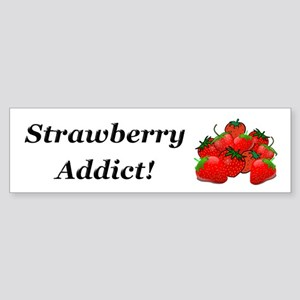 Strawberry Addict Sticker (Bumper)