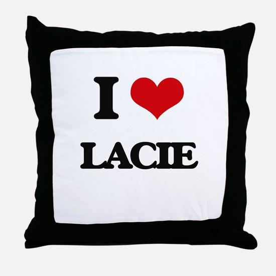 I Love Lacie Throw Pillow