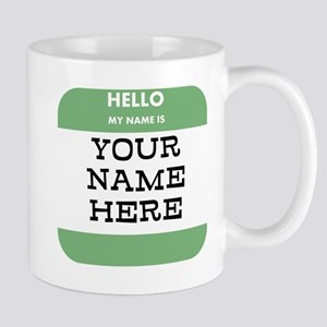 Custom Green Name Tag Mugs