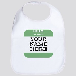 Custom Green Name Tag Bib