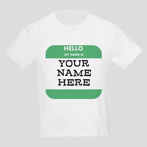 Custom Green Name Tag T-Shirt