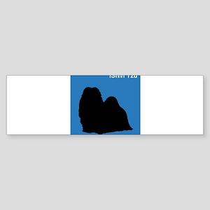 Shih Tzu (clean blue) Bumper Sticker