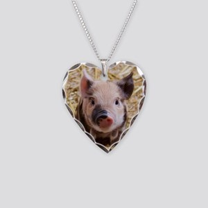 Piglet Necklace Heart Charm