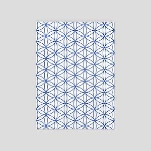 Flower Of Life Ptn Blu/w 5'x7'area Rug