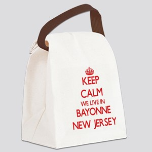 Keep calm we live in Bayonne New Canvas Lunch Bag