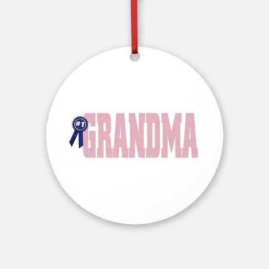 #1 Grandma Ornament (round)