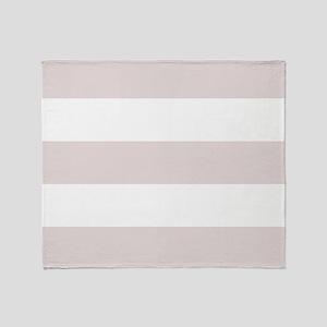 Tan and White Stripes Throw Blanket
