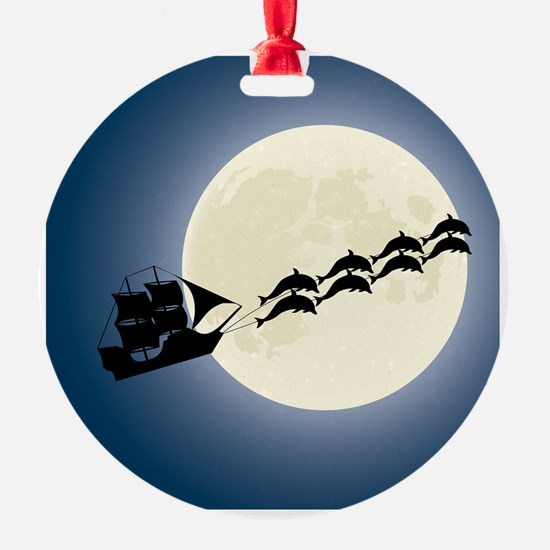 Santa Pirate Ship Ornament