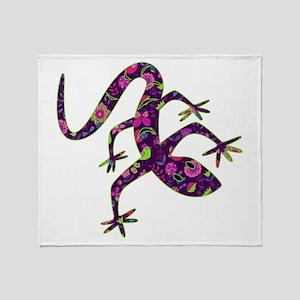 Purple Patchwork Lizard Throw Blanket