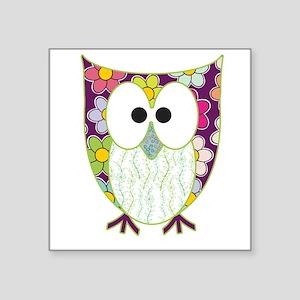 Floral Patchwork Owl Sticker