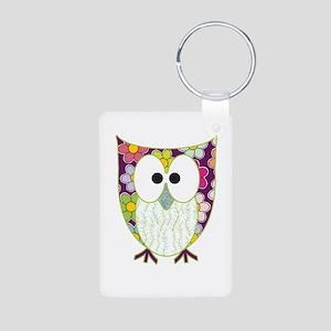 Floral Patchwork Owl Keychains