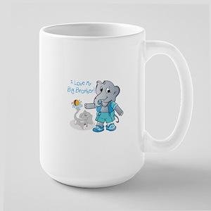 Elephants, I Love My Big Brother! Mugs