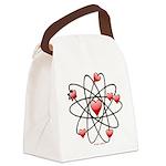 Atomic Valentine Canvas Lunch Bag