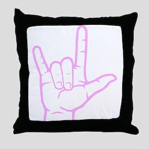 Pink I Love You Throw Pillow