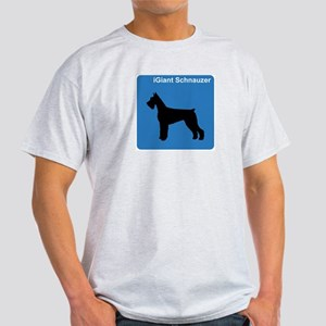 Giant Schnauzer (clean blue) Light T-Shirt