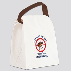 SLEEPING ALONE Canvas Lunch Bag
