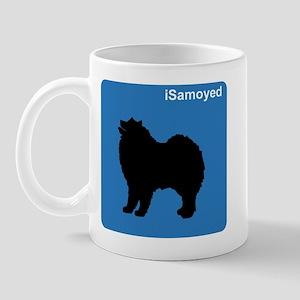 Samoyed (clean blue) Mug