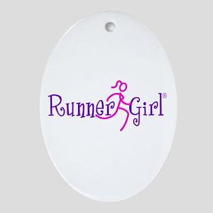 RunnerGirl Oval Ornament