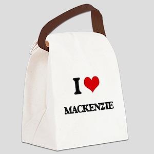 I Love Mackenzie Canvas Lunch Bag