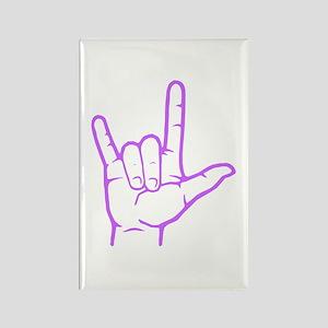 Purple I Love You Rectangle Magnet