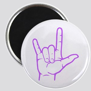 Purple I Love You Magnet