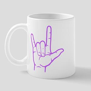 Purple I Love You Mug
