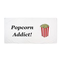 Popcorn Addict Beach Towel
