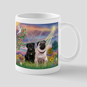 Cloud Angel & Pug Pair Mug