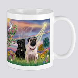 Cloud Angel & Pug Pair Mug