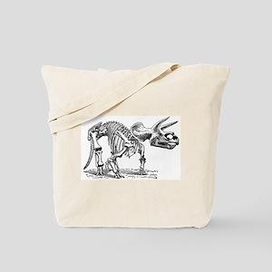 Triceratops Skeleton Tote Bag