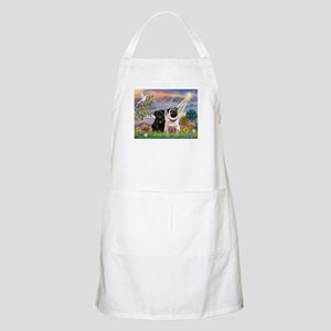 Cloud Angel & Pug Pair BBQ Apron