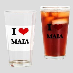 I Love Maia Drinking Glass