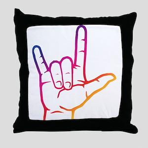 Rainbow I Love You Throw Pillow
