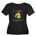 Love My Women's Plus Size Scoop Neck Dark T-Shirt
