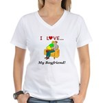 Love My Boyfriend Women's V-Neck T-Shirt