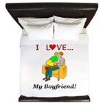 Love My Boyfriend King Duvet