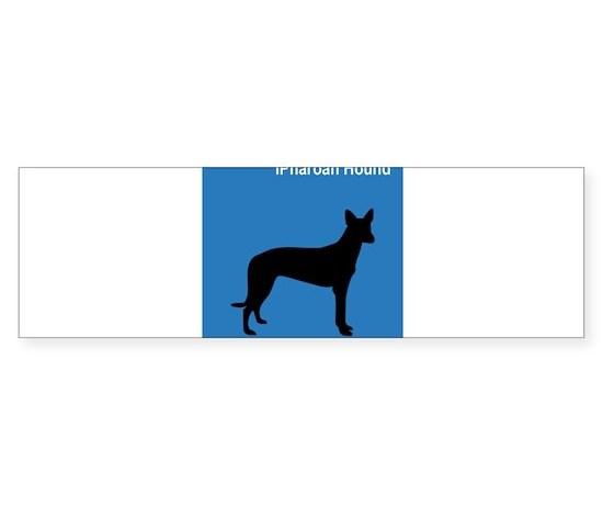 Pharoah hound clean blue bumper bumper bumper sticker